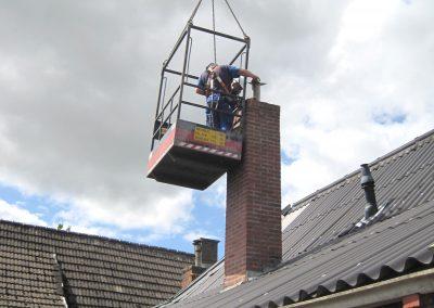 asbest schoorsteen